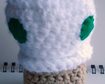 SALE - White and Green Mushroom Amigurumi Pincushion