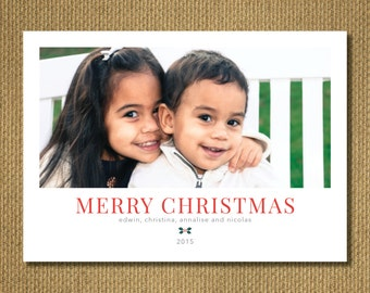 PRINTABLE - Photo Christmas Card