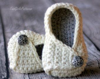 Crochet Pattern Instant Download - unisex -  #113 Baby Wrap Shoe -Payton Shoe - PDF - Baby Bootie L