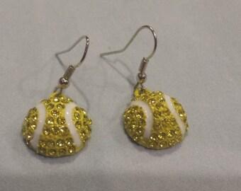 New Tennis Ball Earrings