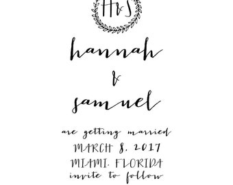Save the Date Vintage Series