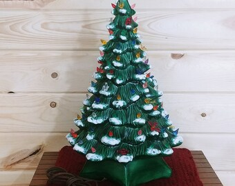 "Vintage 19"" Holland Mold Ceramic Christmas Tree"