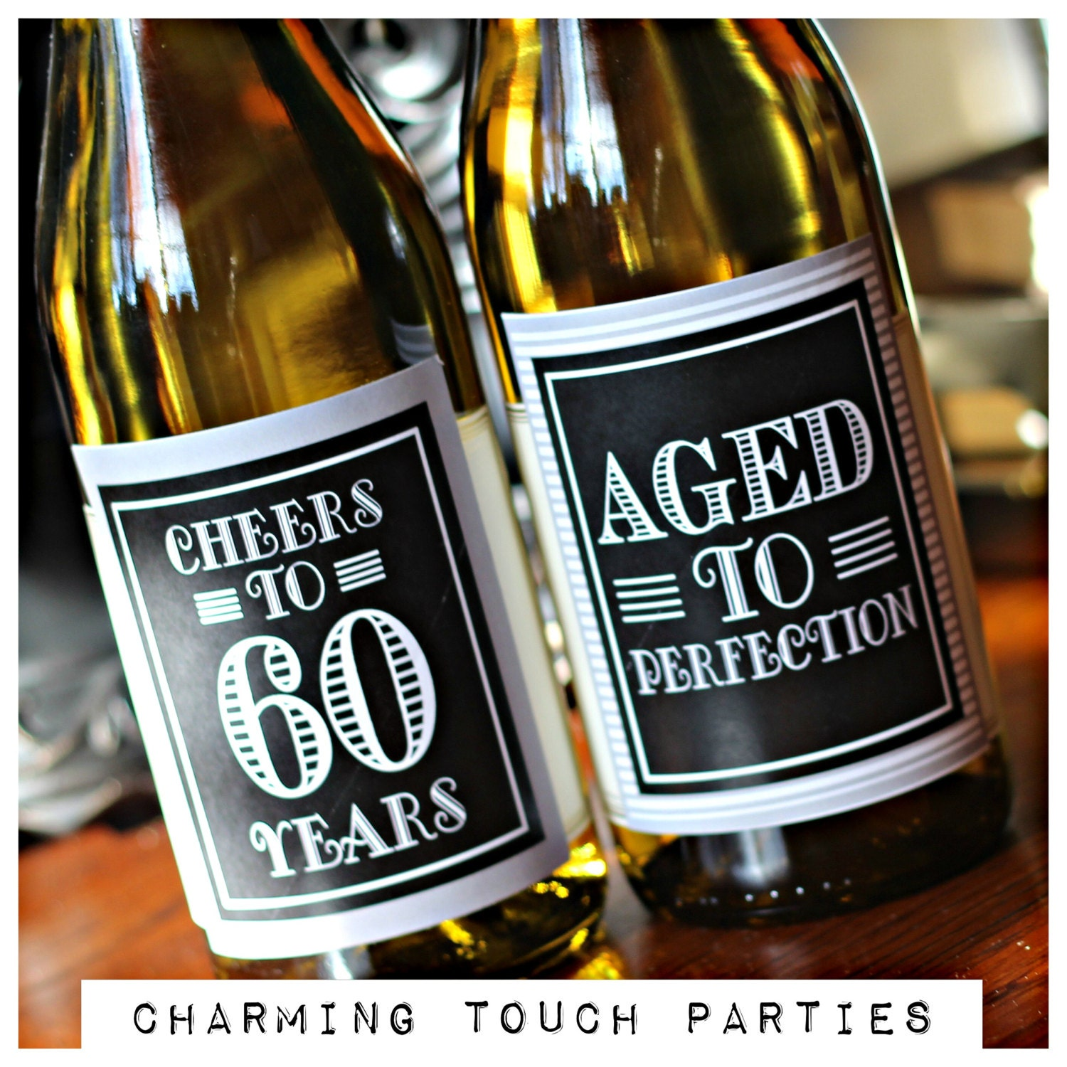 60TH BIRTHDAY PARTY Wine Labels Masculine Birthday Party  sc 1 st  sittingdownfordinner.com & Adorable Pictures Of 60 Birthday Party Ideas for Mom - Best Home ...
