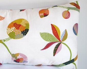 """Pillow cover white with colorful abstract tree 14""""x14"""" Pillow case Throw pillow Floor Cushions Accent Pillows"""