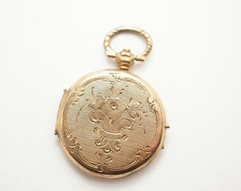 SALE Antique Small Gold Filled Photo Locket