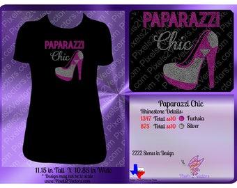 Rhinestone - Instant Download - Bling - SVG - Paparazzi Chic - ss10 Rhinestone Cut File - Template Transfer Pattern  - High Heel Shoe - Pink
