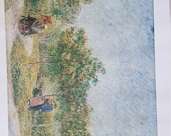 Lithograph Of Vincent Van Gogh's Park at Asinieres, Paris from Van Gogh Museum, Amsterdam