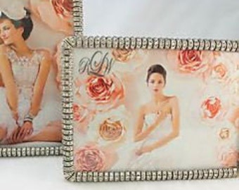 Frame, Crystal Encrusted - Personalized/Monogrammed - Engraved