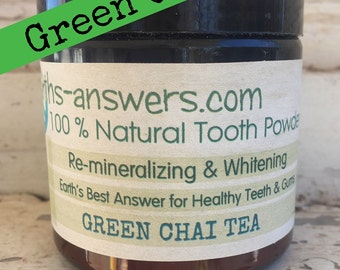 Super Healing Remineralizing Whitening Natural Green Chai Tea Tooth Powder