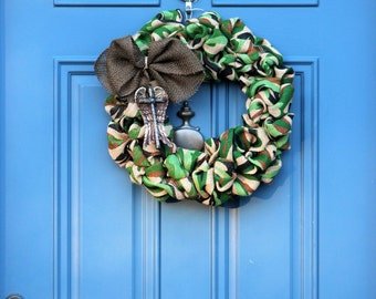 Memorial Gift  , Camouflage Wreath , Veterans Day Wreath , Military Gifts , Marine Corps Wreath , Army Wreath ,  Wreath Obsessed