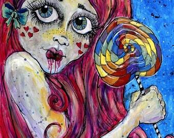 Sugar Baby - lollipop Fine Art Print