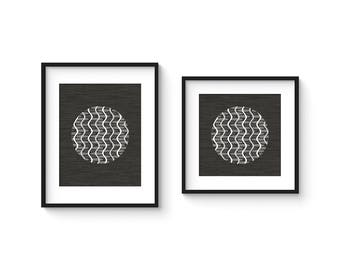 MOIRÉ no.2 - Minimalist Black and White Abstract OP Art Print - in 8x8 and 8x10 Format