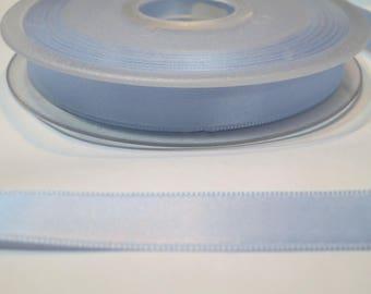 Satin ribbon double sided 11 mm, sky blue