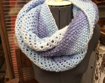 Ombre Blue Infinity Scarf