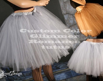 tutu skirt Adult Custom Color Glimmer Romance knee length dance petticoat Bridal costume bridal - You Choose Size -- Sisters of the Moon