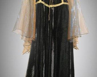 Medieval dress, gothic  dress, renaissance gown, gothic costume.
