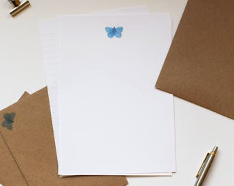 Butterfly Writing Paper - Letter Writing Set - Sheets and Envelopes -   Designed By CottageRts Lovely Gift