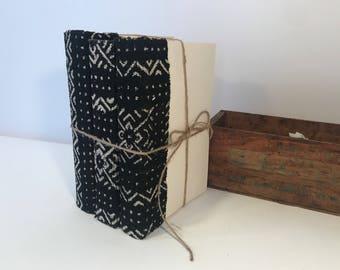 Mudcloth, Black Books, Mud Cloth Books, Decorative Books, Black Book Decor, Mud Cloth Pillow, Black and White Mud Cloth, Book Decor