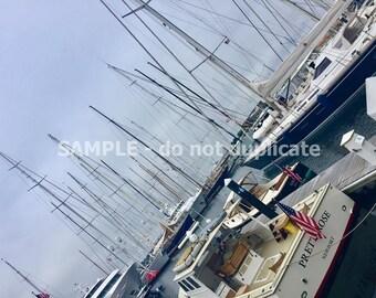 Newport, RI Boats in Harbor