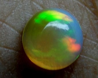 Amazing Natural Ethiopian opal Round Cabochon 7x7 MM Multi fire Welo fire  opal Round Cabochon  AA Quality in whole sale prize OA6