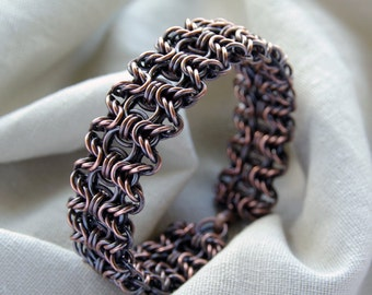 Copper gifts / anniversary bracelet / chainmaille jewelry