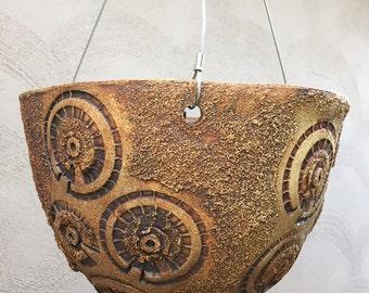 "10"" Hanging Ceramic Planter"