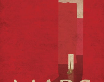 Mars Retro Planetary Travel Poster