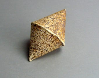 Ceramic Sculpture , Double Cone , Sculptural Elements , Minimalist Decor