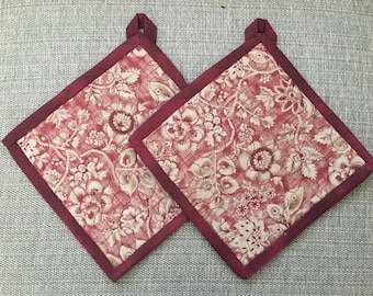Quilted Pot holders , Potholders,pot holders, Fabric Pot holders, Contemporary Potholders ,8 x 8 inch ,Christmas gift