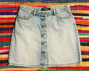 Vintage London Jeans Denim Skirt -8