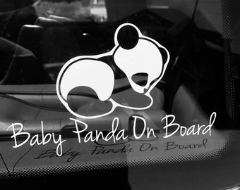 Baby Panda on Board car decal