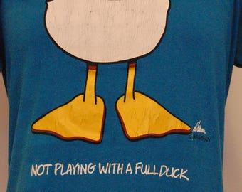 Vintage 80s Duck Shirt (Medium)