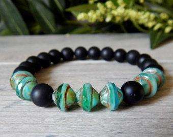 Men's Jewelry, Black Bracelet, Mens Bracelet, Black Onyx Bracelet, Black Jewelry, Onyx Bracelet, Mens Beaded Bracelet, Gift for Him