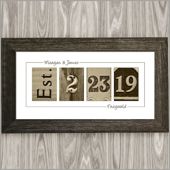 Gift For Couple On Wedding: Personalized Wedding Gift For Couple Custom Established Date