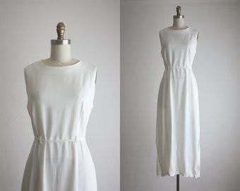 bone white maxi dress