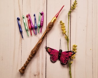 Interchangeable Crochet Hook,Made To Order, Handmade, Wood, Ergonomic Crochet Hook