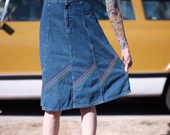 Vintage 70s skirt, vintage Lee, vintage skirt, LEE