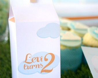 PLANE Milk Carton Treat Box Printable