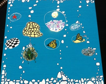 Greek island 2, islands,chidren room decor, kids room wall art, wall art on canvas,