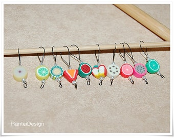 Stitch markers for knitting fruit salad Vitamins for knitting