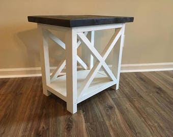 X Style End Table -Set of 2