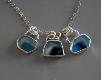 Blue tourmaline necklace / tourmaline slice / indicolite tourmaline / watermelon tourmaline / tourmaline jewelry / tourmaline pendant / gift
