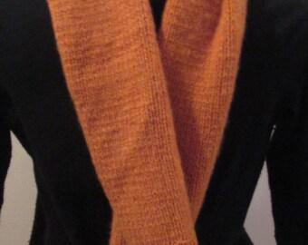 Pumpkin Cashmere Handknit Scarf