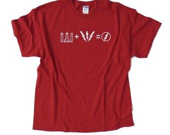 S - 2XL > Big Bang Theory inspired T-Shirt Sheldon > FLASH FORMULA Superhero