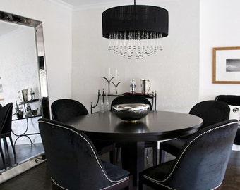 SILK LOOM VENETIAN 100% Silk Velvet Fabric 10 Yards Onyx Black