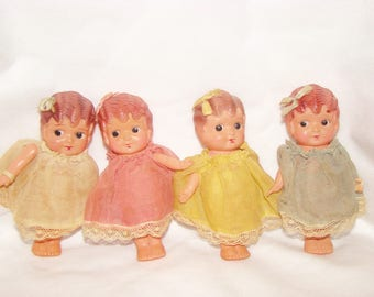 Celluloid Kewpie Doll Set Of Four