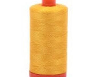Aurifil Mako Cotton Thread Color 2135 (Yellow), 50 wt, 1300m, 1 spool