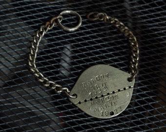 Vintage antique 1922s French ID bracelet ww1