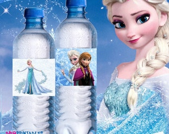Frozen Birthday Party, frozen Party Decoration, Frozen Water Labels, Frozen Water Wrap,Frozen Party, Princess , Disney Frozen