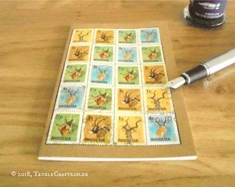 Wildlife Notebook • Rhodesia Postage Stamp Travel Journal